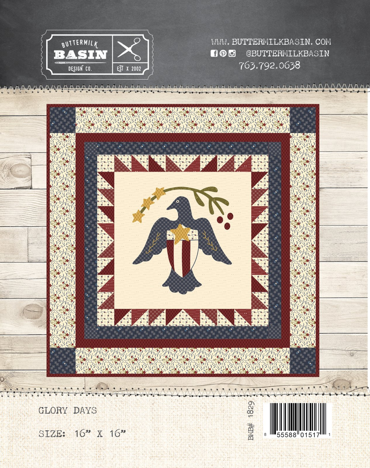Glory Days Quilt * Pattern