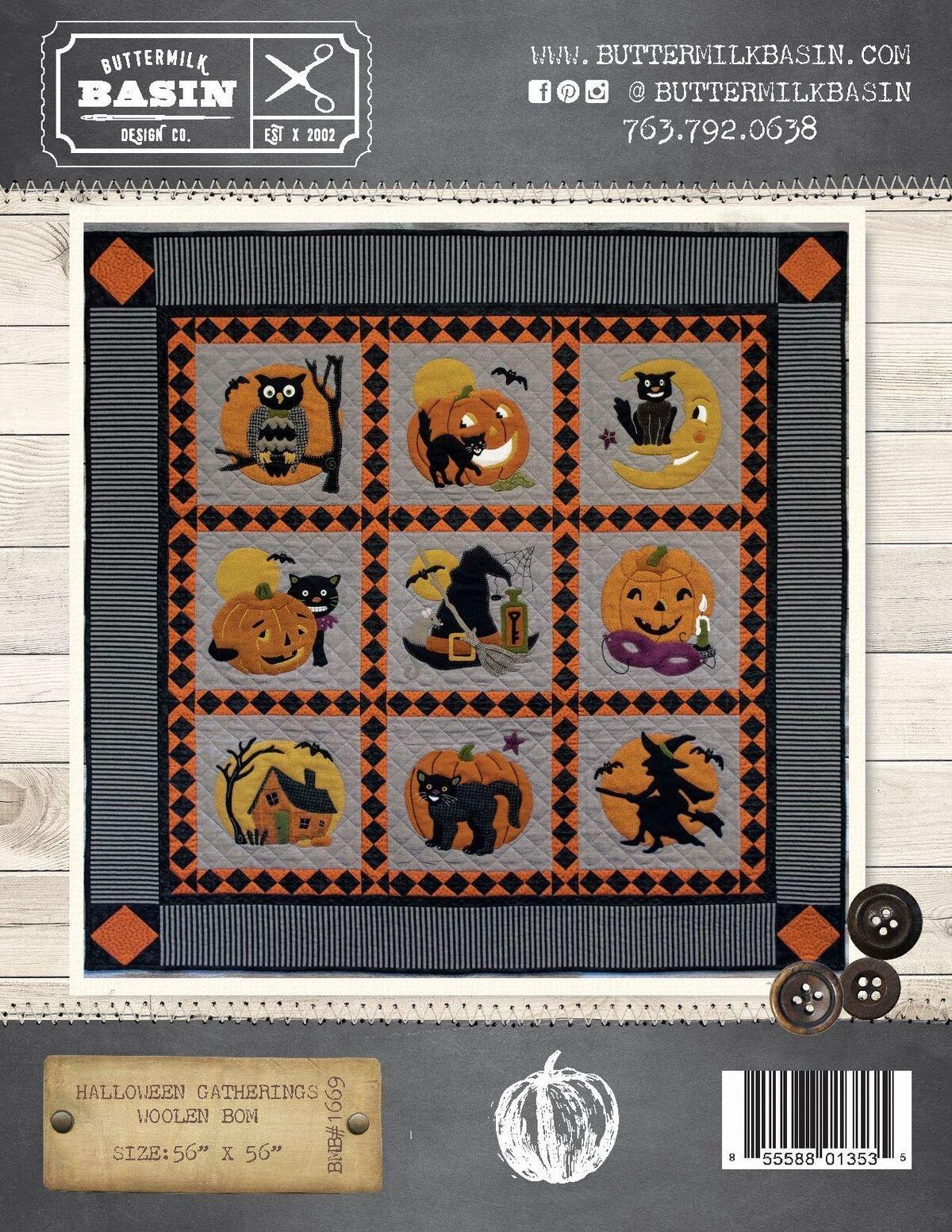 Halloween Gatherings Woolen * Pattern