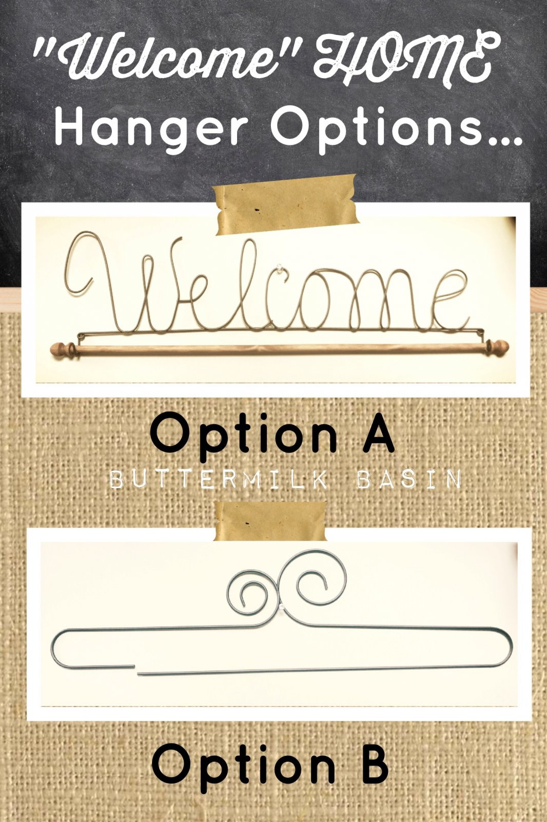 Hanger for Welcome Home Wall Hanging - Option A