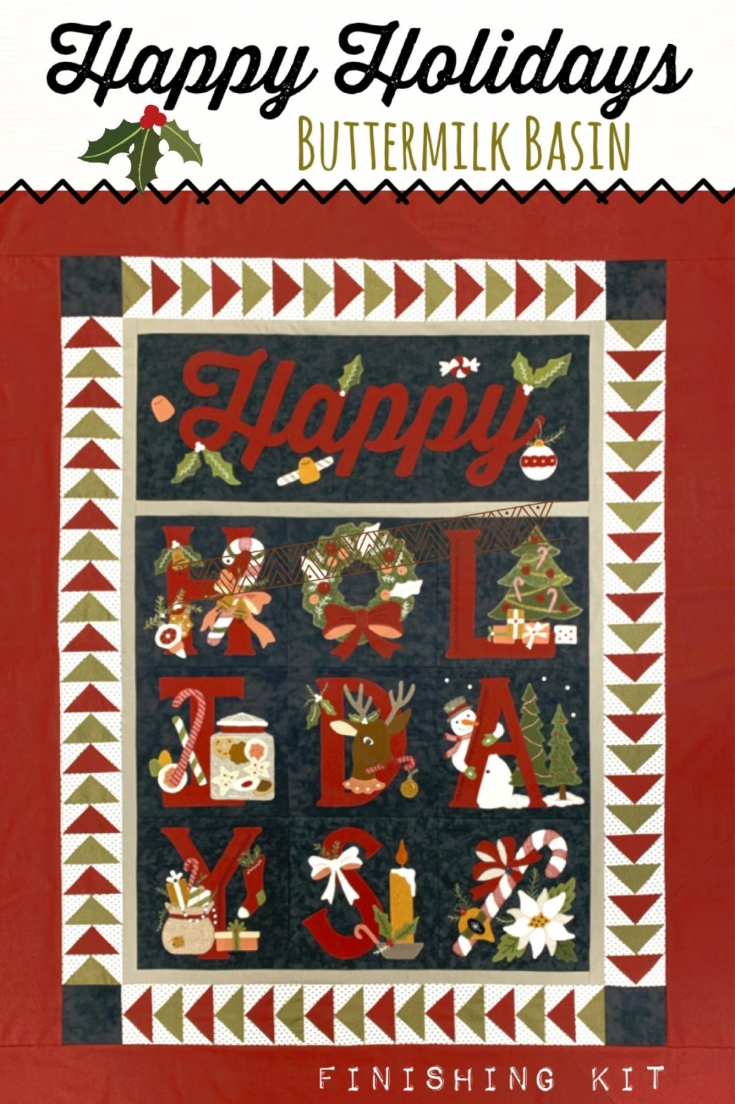 Happy Holidays Mystery BOM *Quilt Finishing Kit