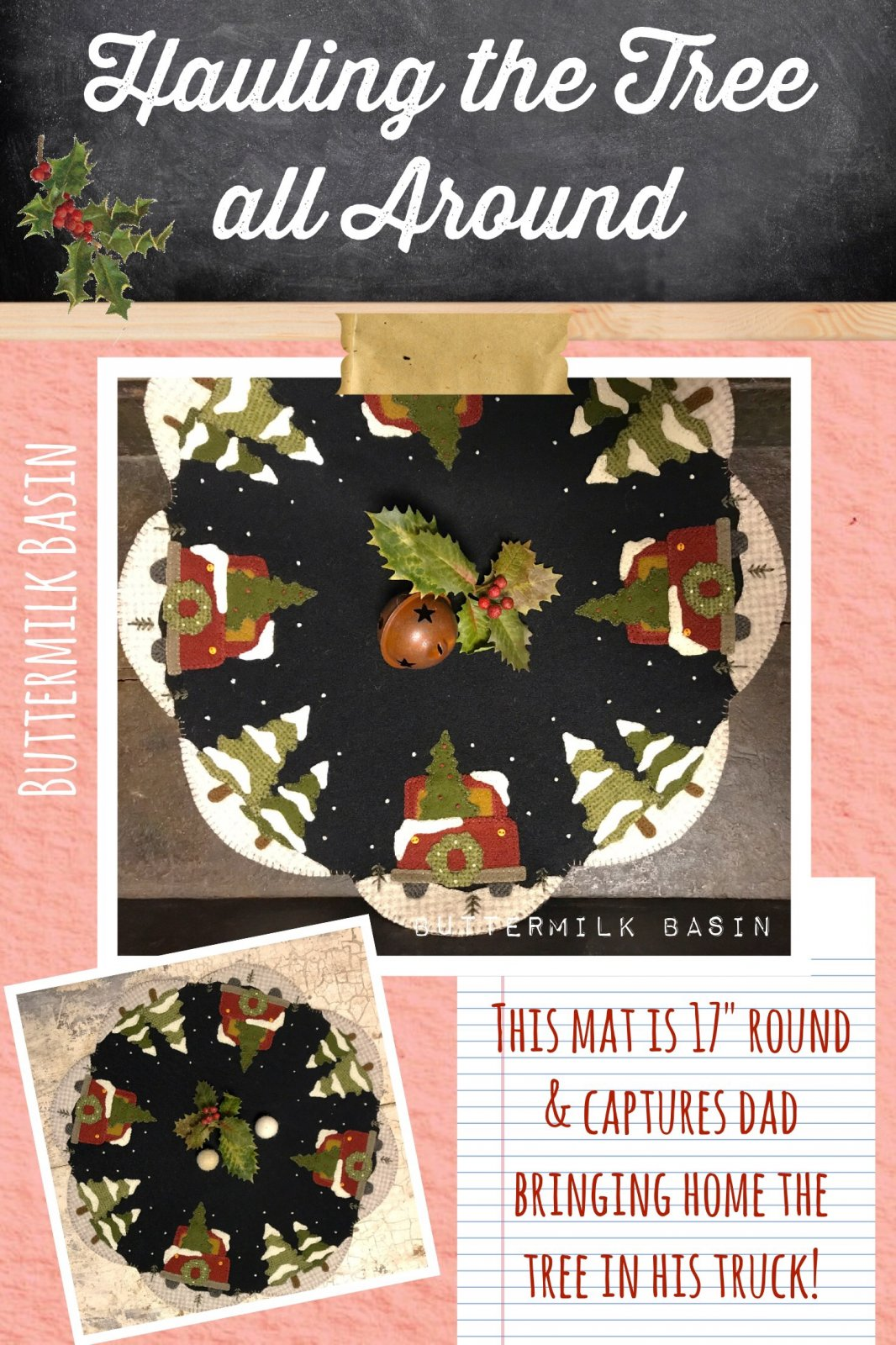 Hauling the Tree All Around * KIT & Pattern