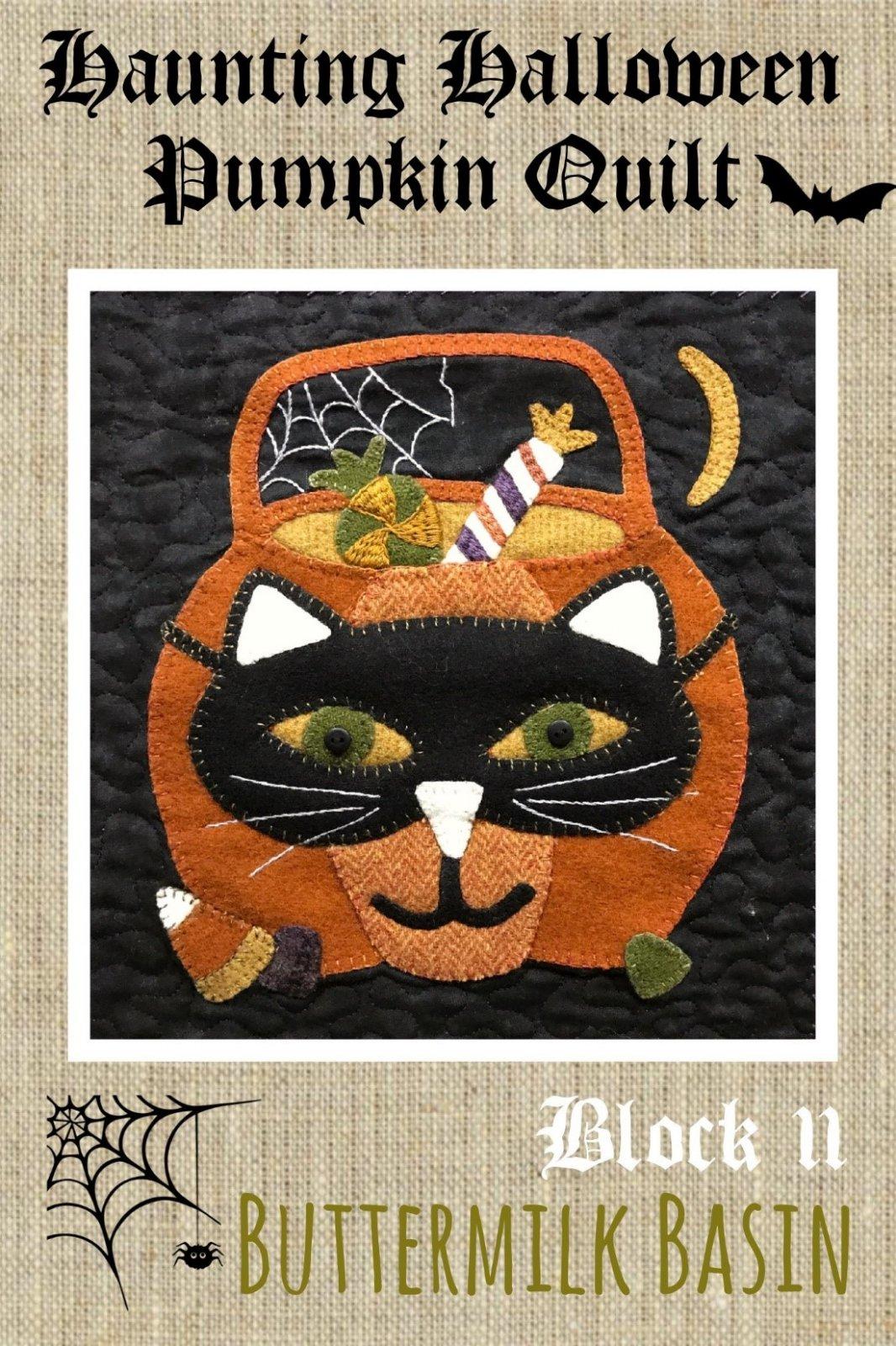Haunting Halloween Pumpkin Quilt Block #11