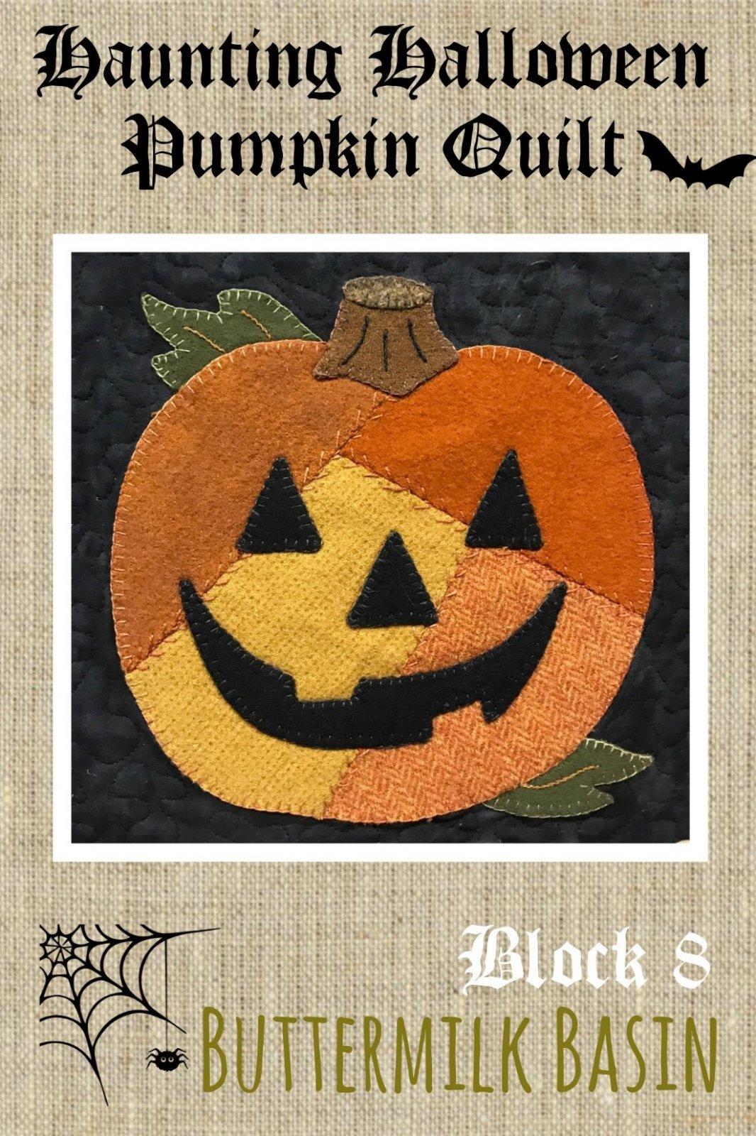 Haunting Halloween Pumpkin Quilt Block #8