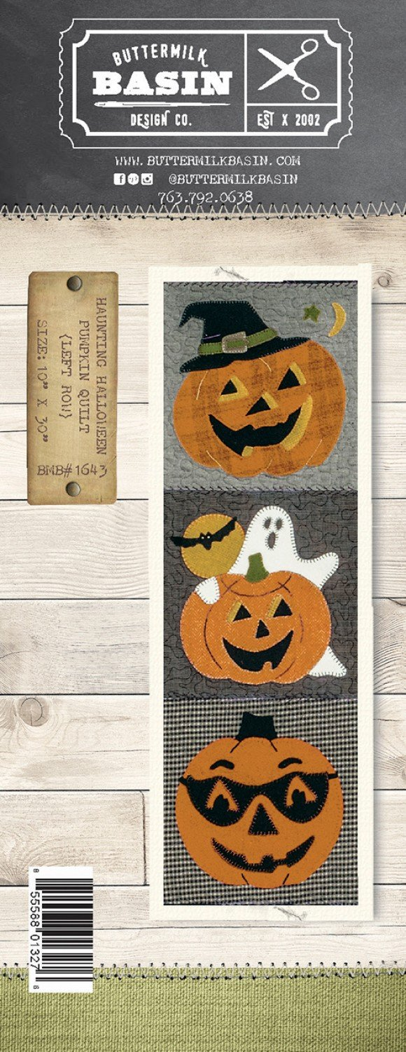 Haunting Halloween Pumpkin Quilt *Left Row Pattern