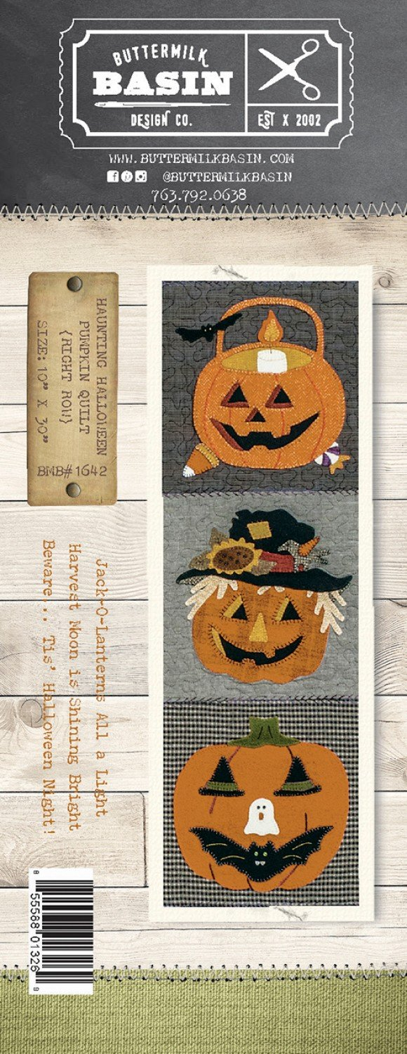Haunting Halloween Pumpkin Quilt *Right Row Pattern