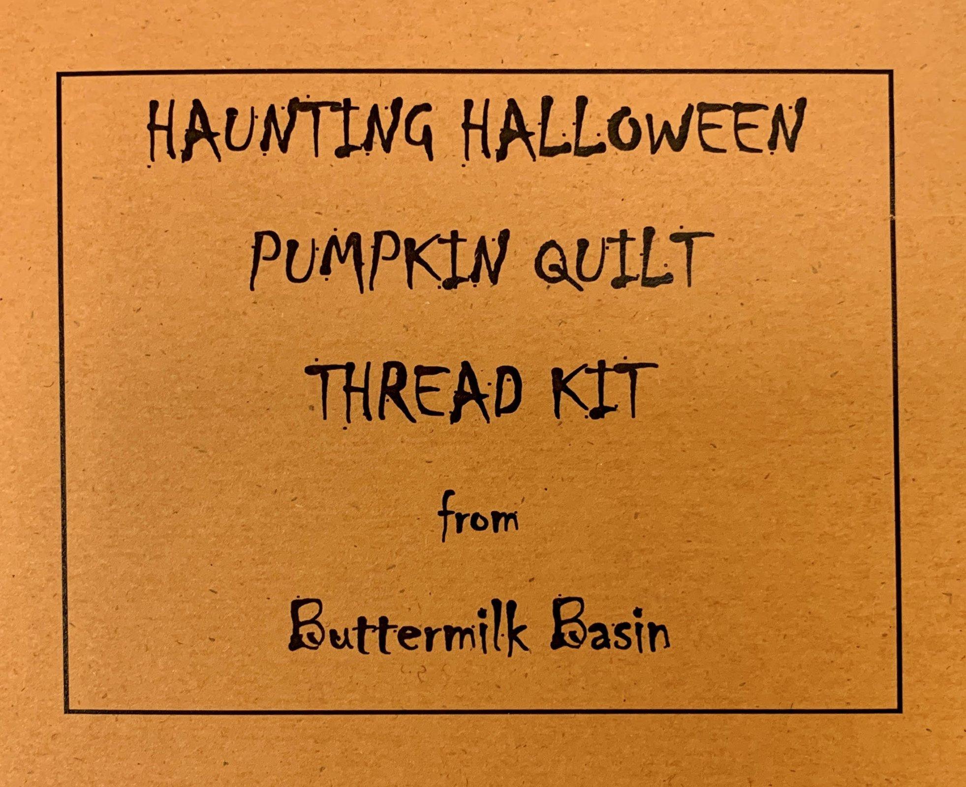 Haunting Halloween Pumpkin Quilt Thread Kit
