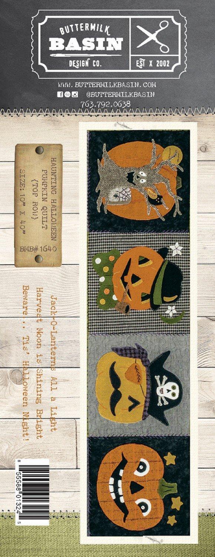 Haunting Halloween Pumpkin Quilt *Top Row Pattern