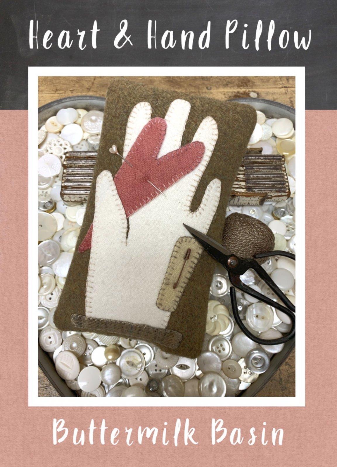 Heart & Hand Pillow * KIT & Pattern