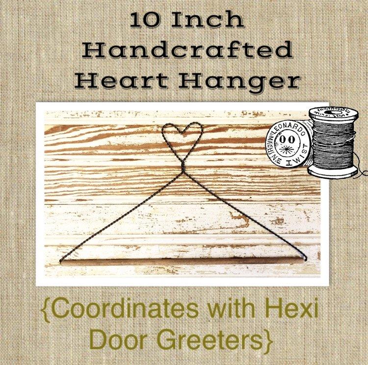 10 Inch Handcrafted Heart Hanger