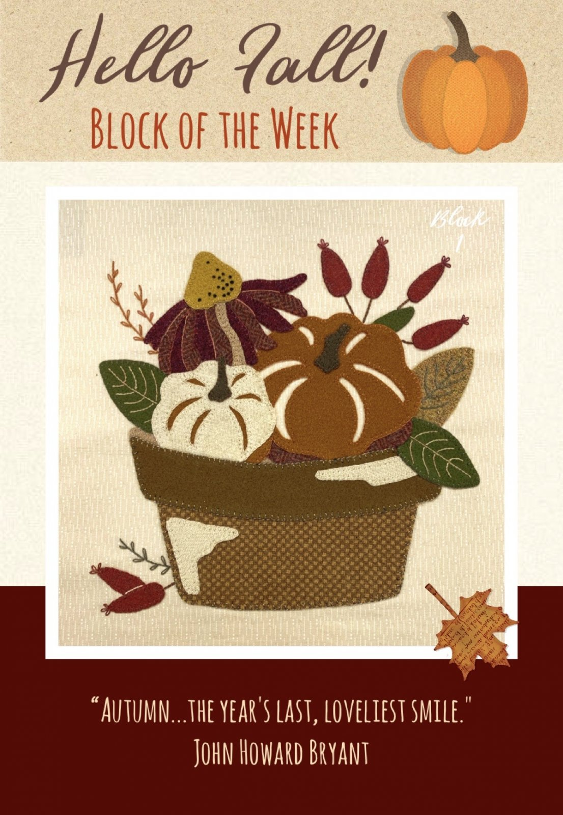 Hello Fall! Block #1
