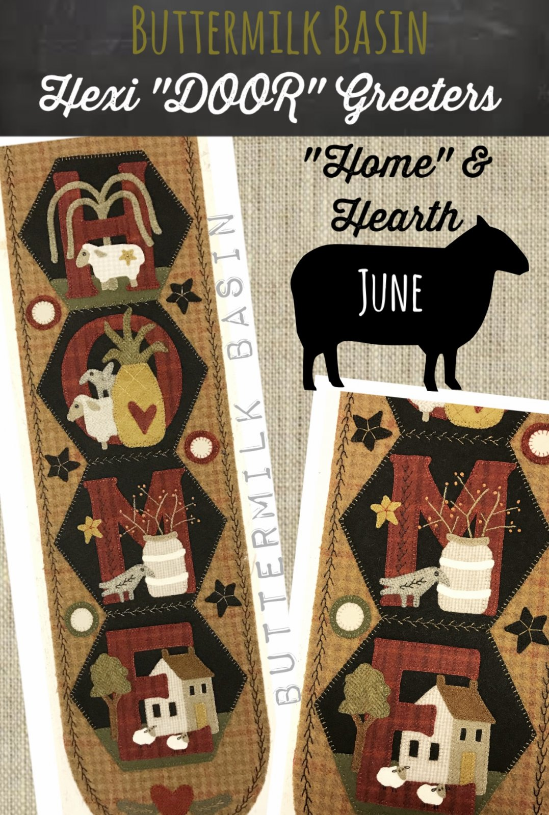 A Year of Hexi WORD Door Greeters * June KIT & Pattern