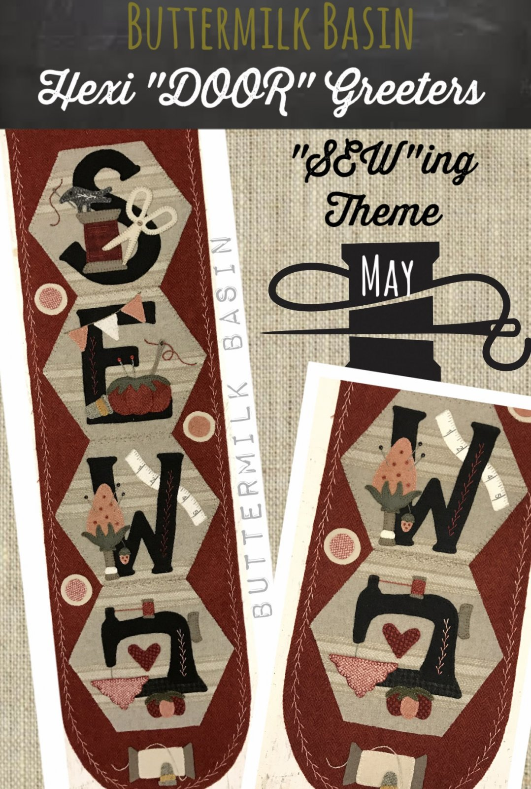 A Year of Hexi WORD Door Greeters * May KIT & Pattern