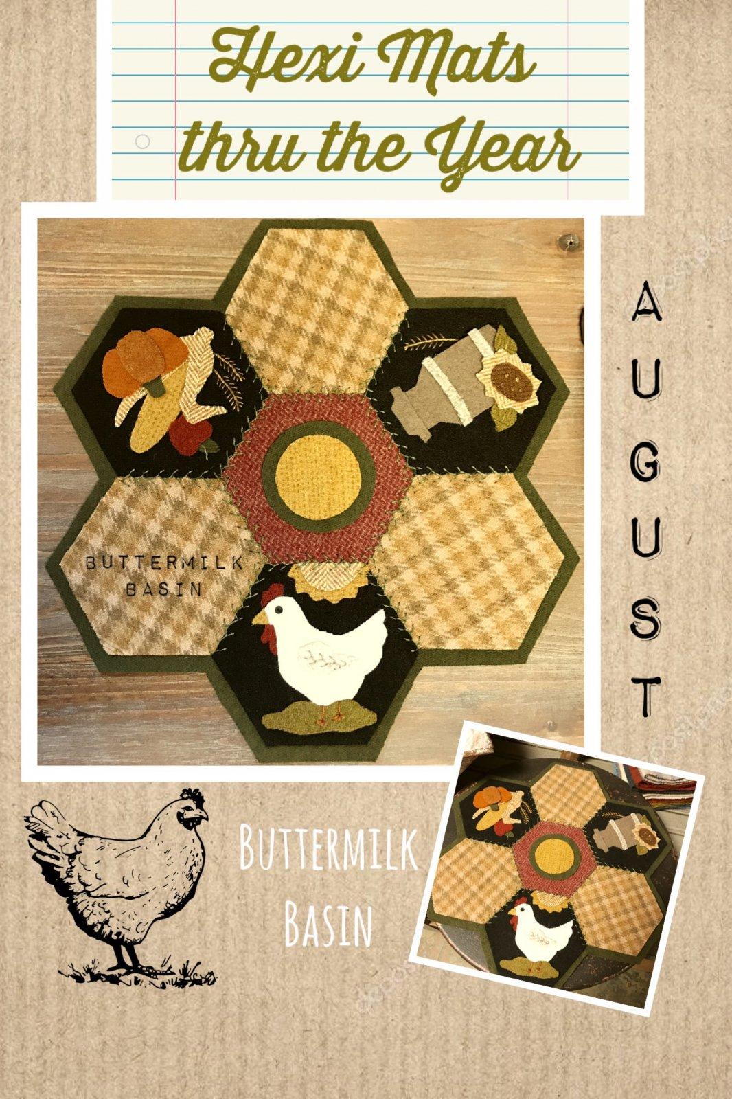 Hexi Mats thru the Year * August KIT & Pattern