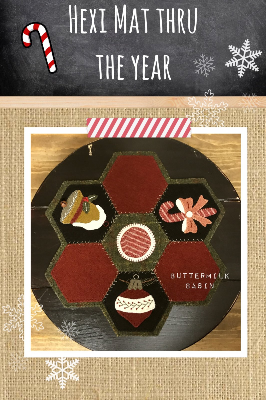 Hexi Mats thru the Year * December Pattern