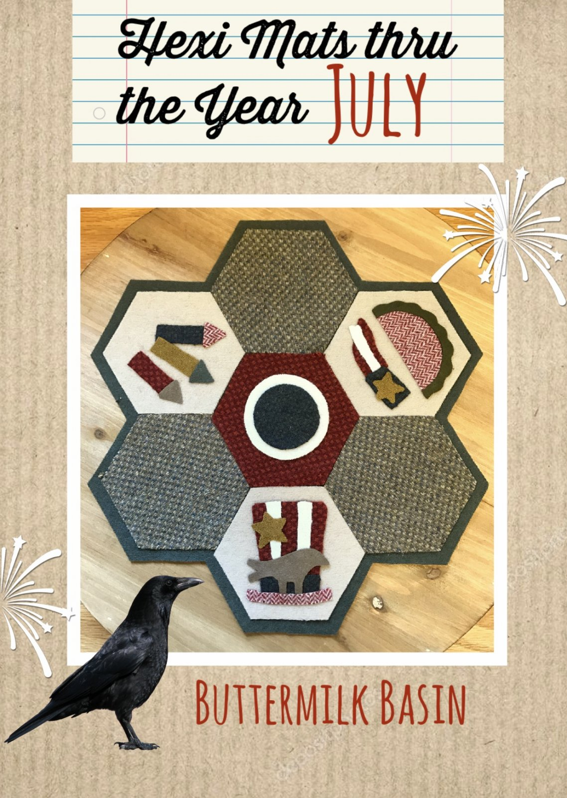 Hexi Mats thru the Year * July Pattern
