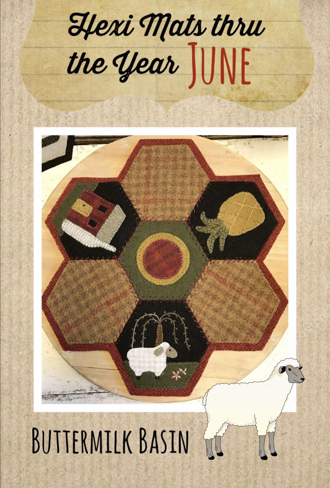 Hexi Mats thru the Year * June KIT & Pattern