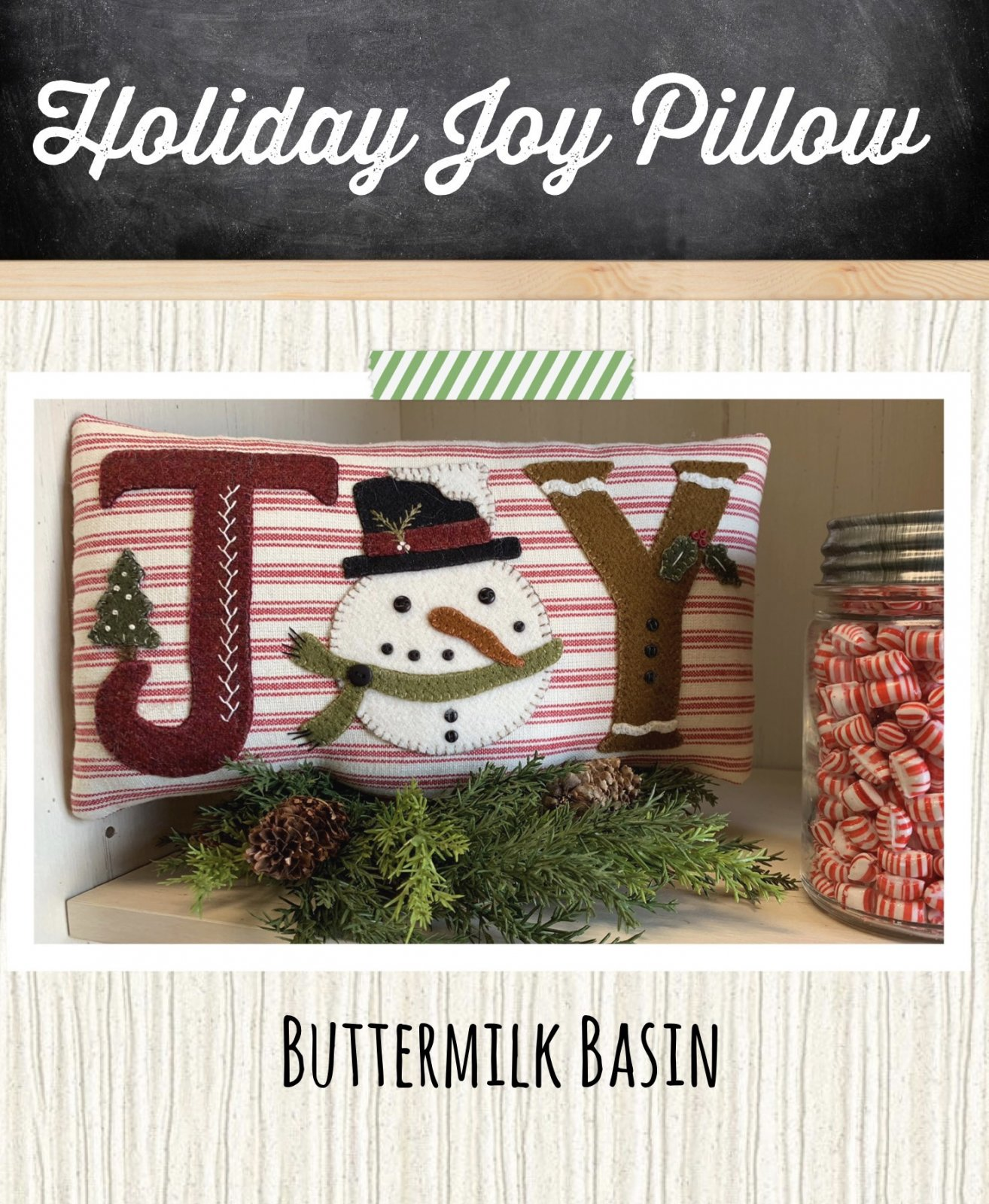 Holiday JOY Pillow *Kit & Pattern