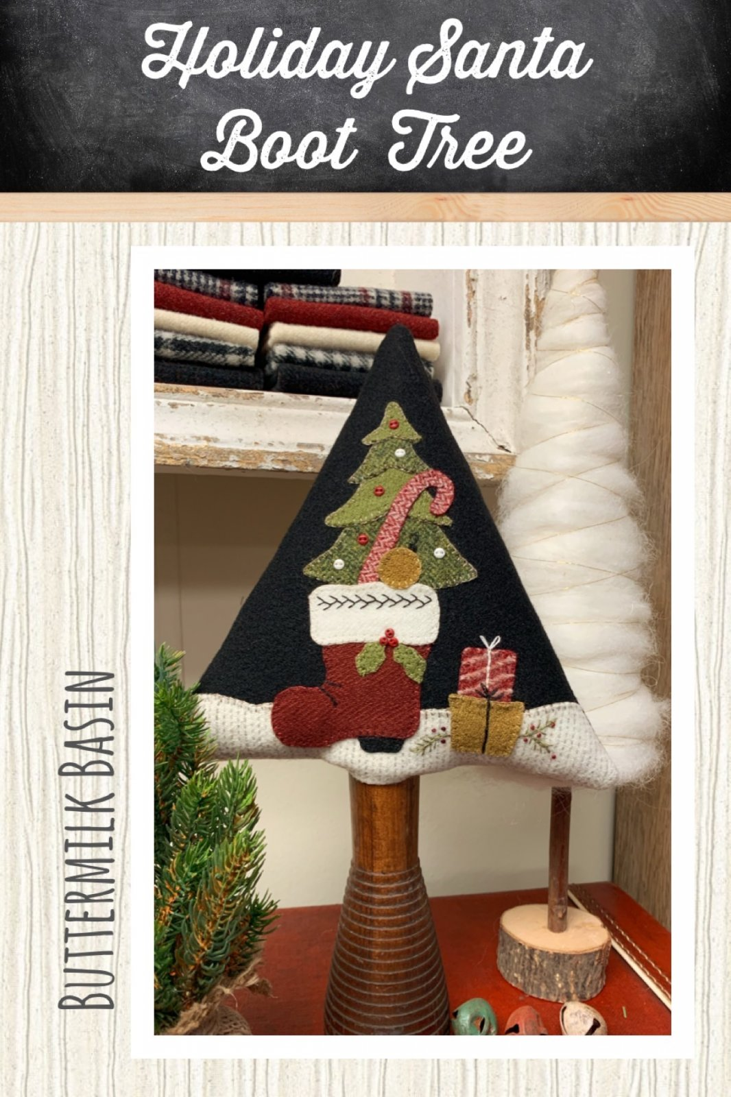 Holiday Santa Boot Tree *Kit & Pattern