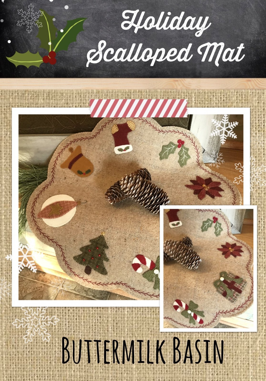 Holiday Scalloped Mat KIT & Pattern