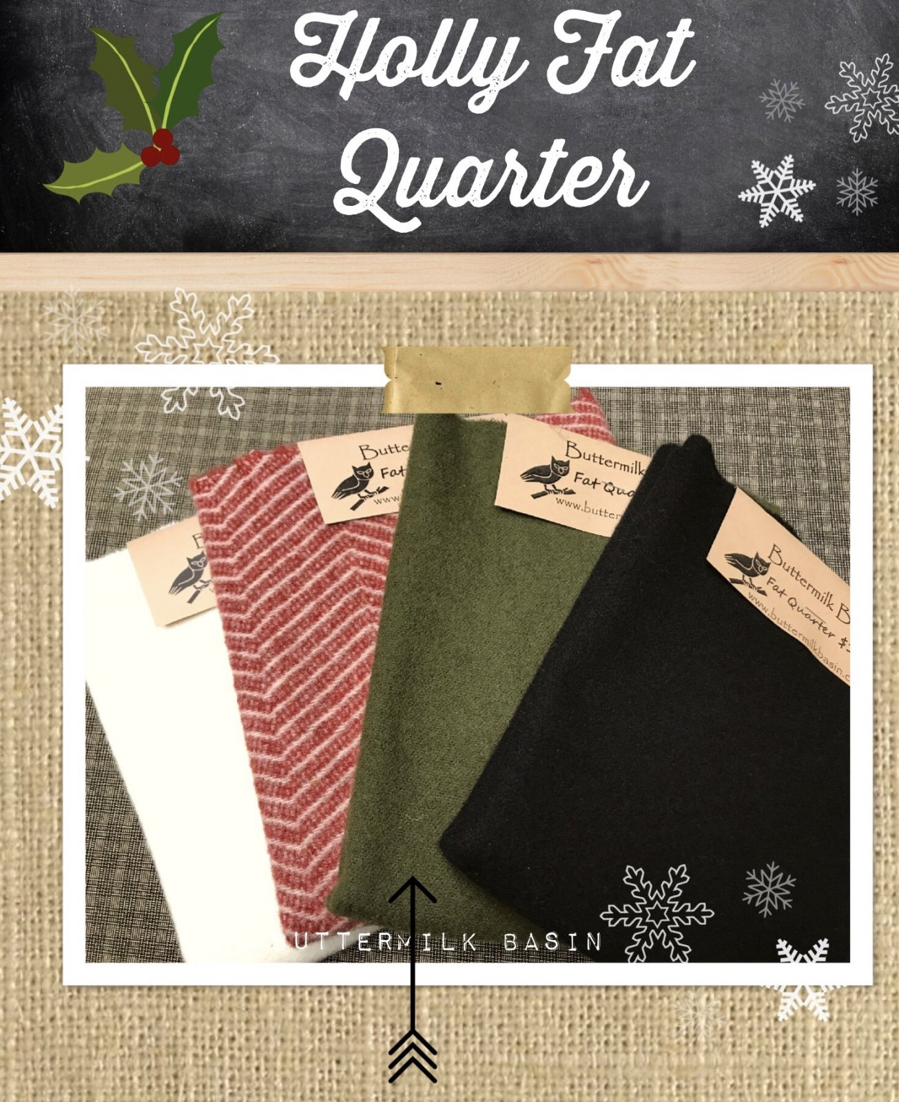 Holly Wool Fat Quarter