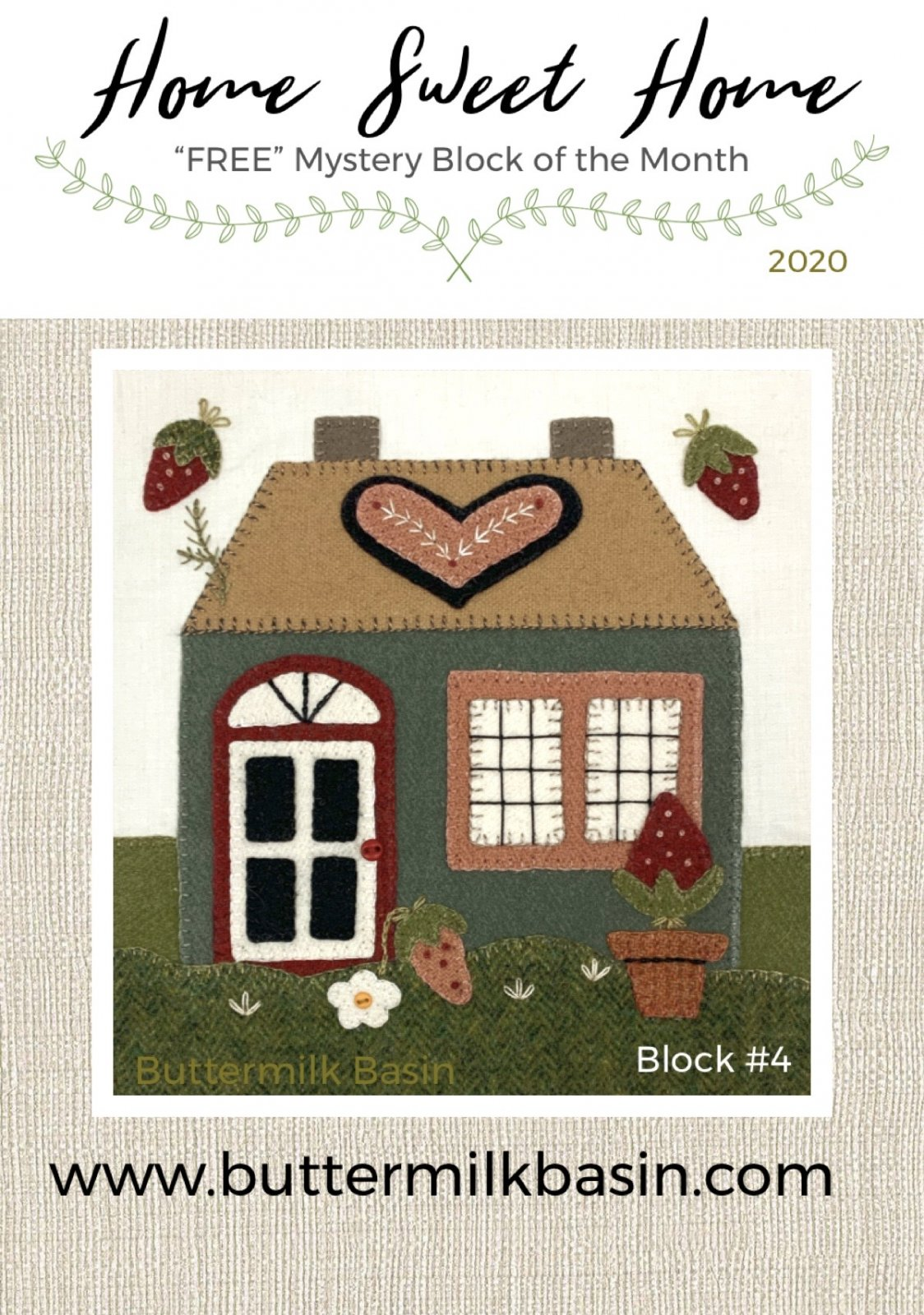 Home Sweet Home Mystery Block 4 * KIT & Pattern