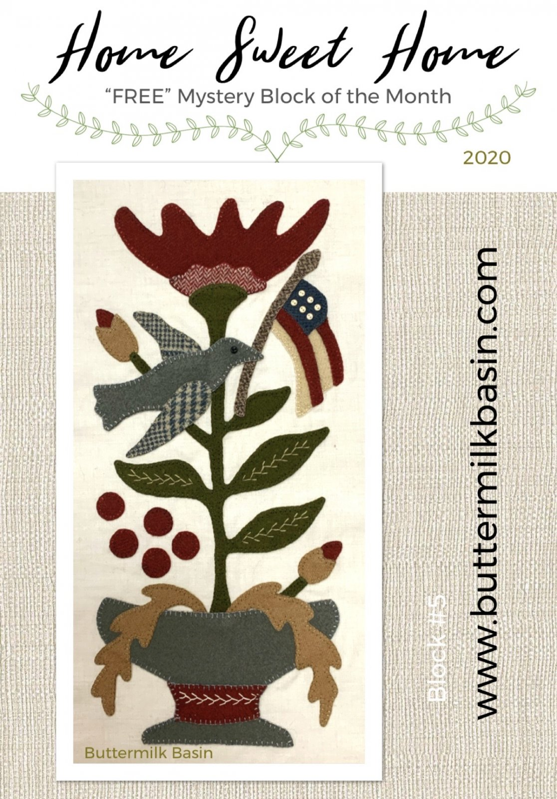 Home Sweet Home Mystery Block 5 * KIT & Pattern