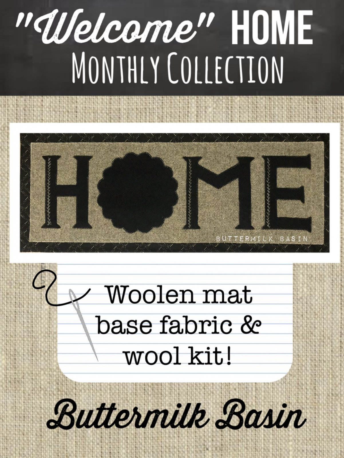 Welcome HOME Woolen Mat KIT Only