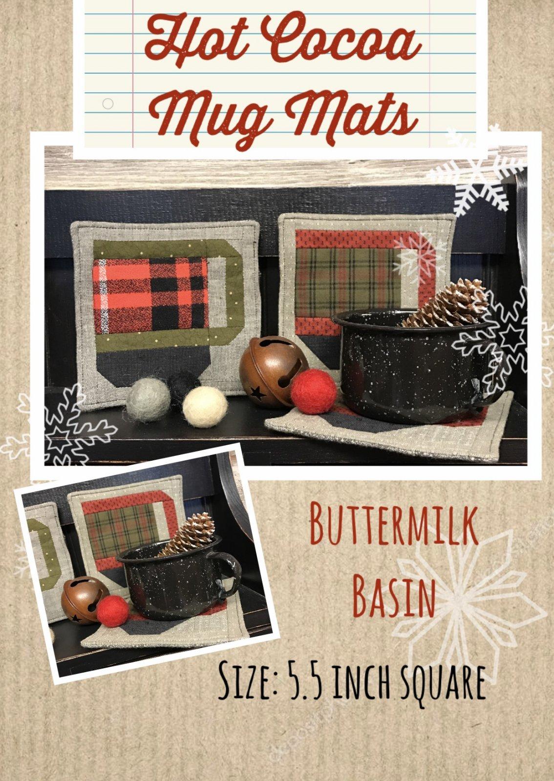 Hot Cocoa Mug Mats Pattern