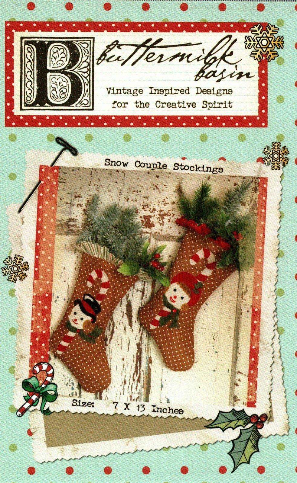 Snow Couple Stockings * Pattern