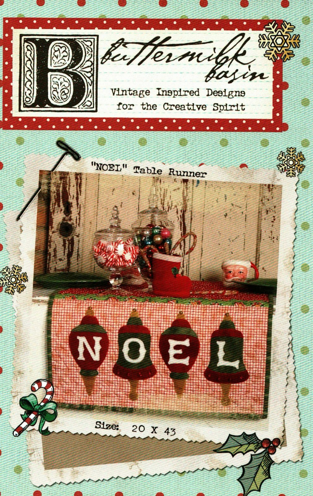 NOEL Table Runner * Pattern