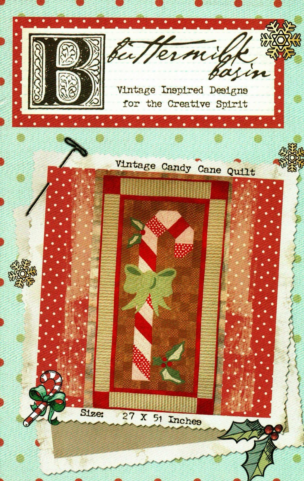 Vintage Candy Cane Quilt * Pattern
