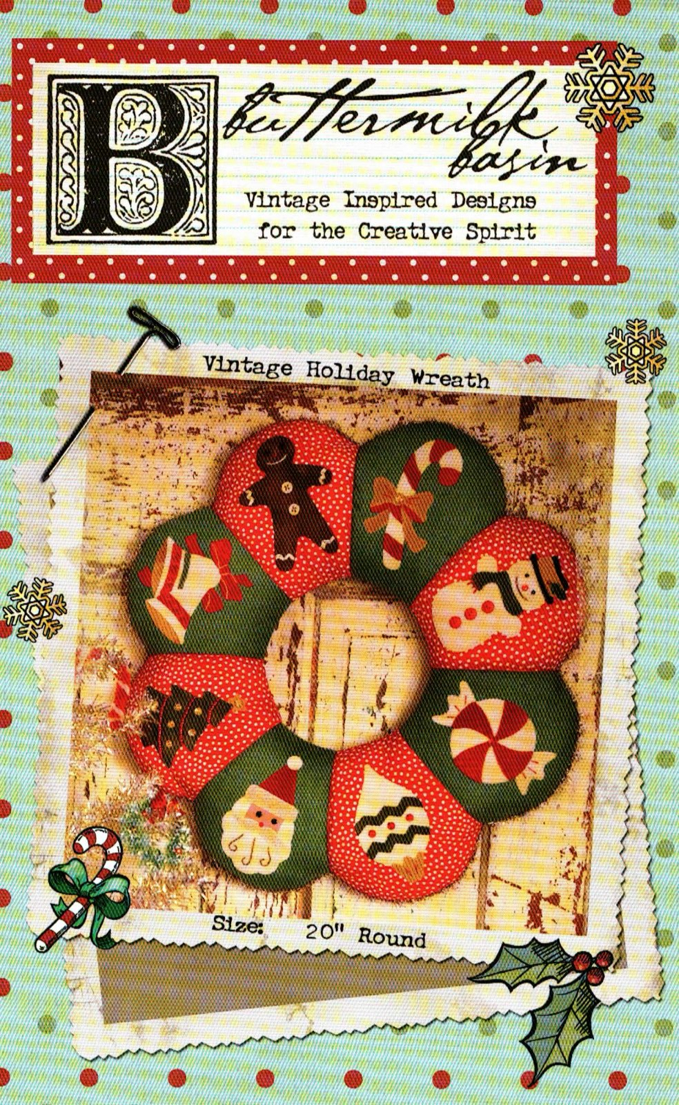 Vintage Holiday Wreath * Pattern
