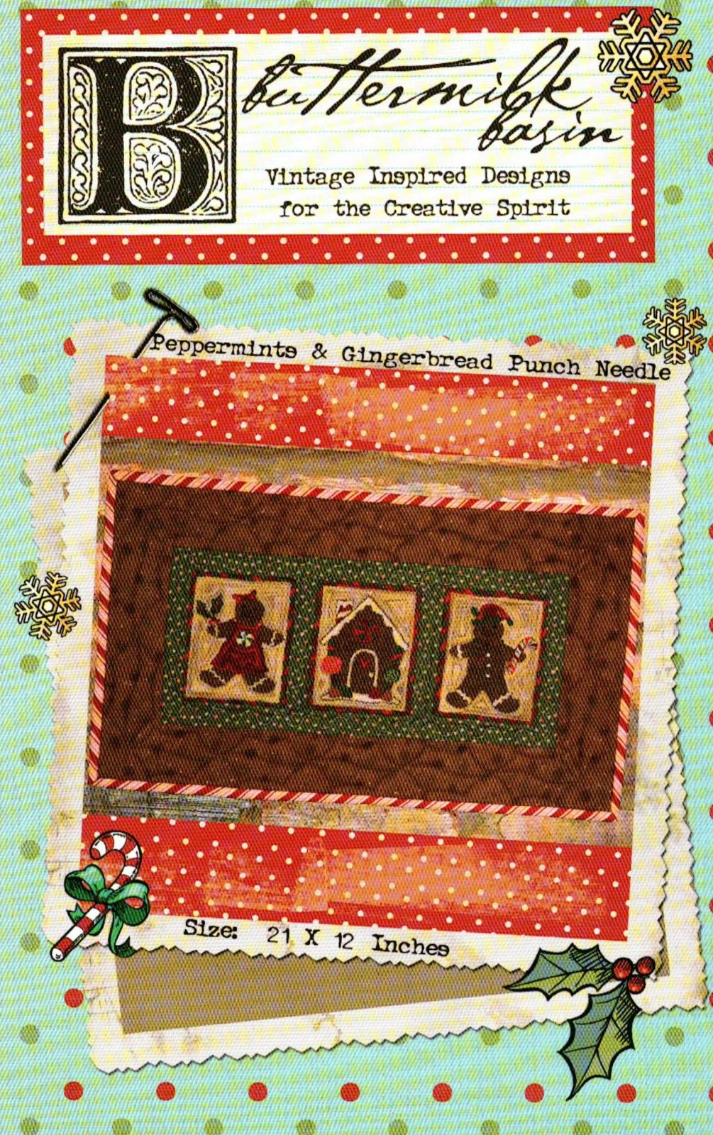 Peppermints & Gingerbread Punch Needle * Pattern