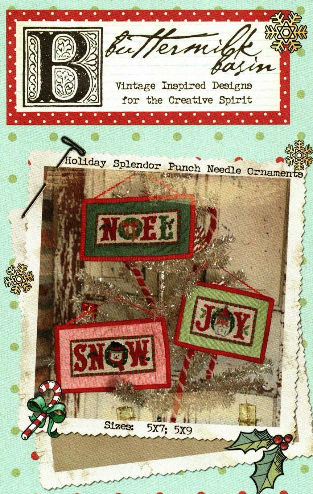 Holiday Splendor Punch Needle Ornaments * Pattern