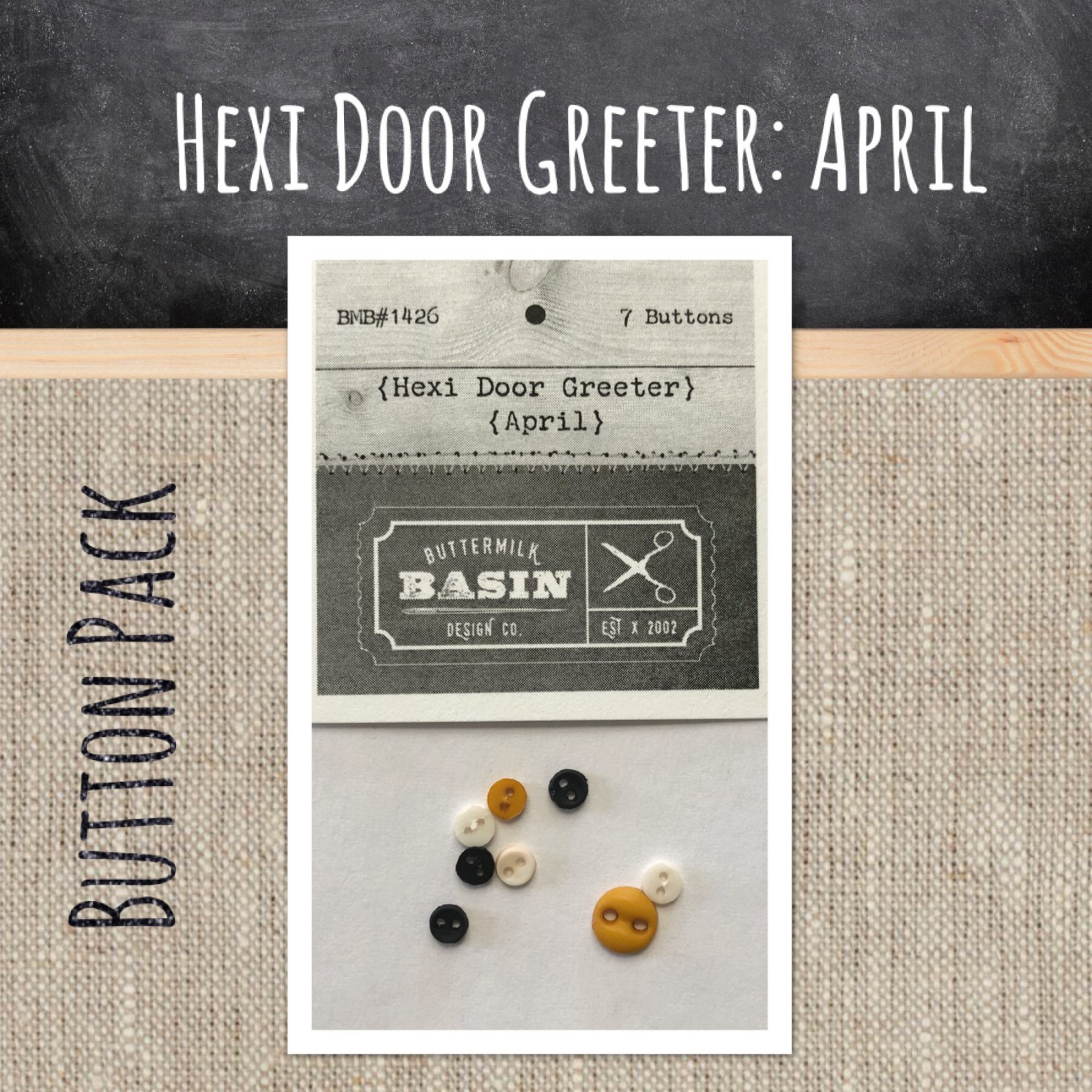A Year of Hexi WORD Door Greeters * April BUTTON Pack