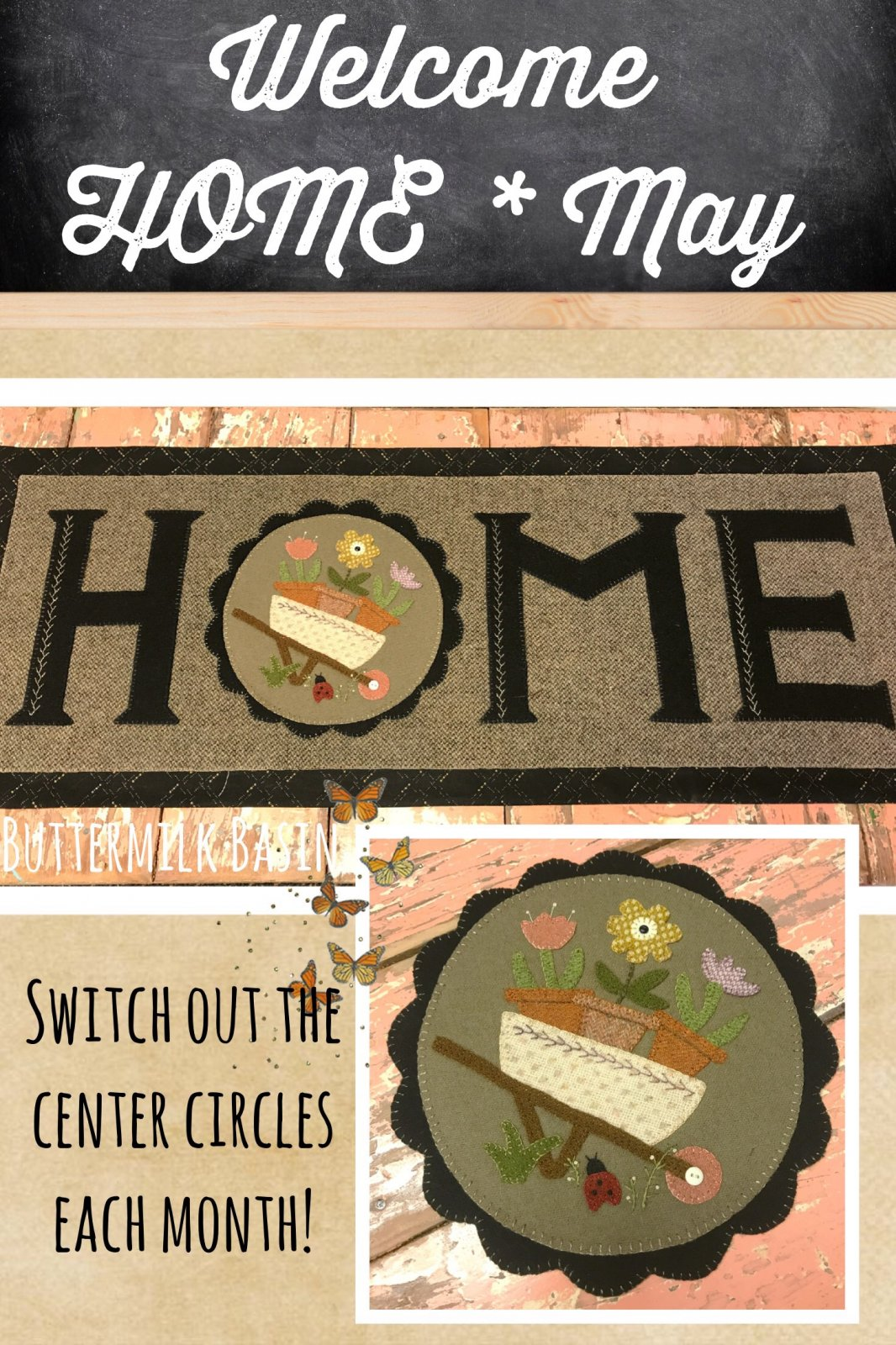 Welcome HOME May Center Circle KIT & Pattern