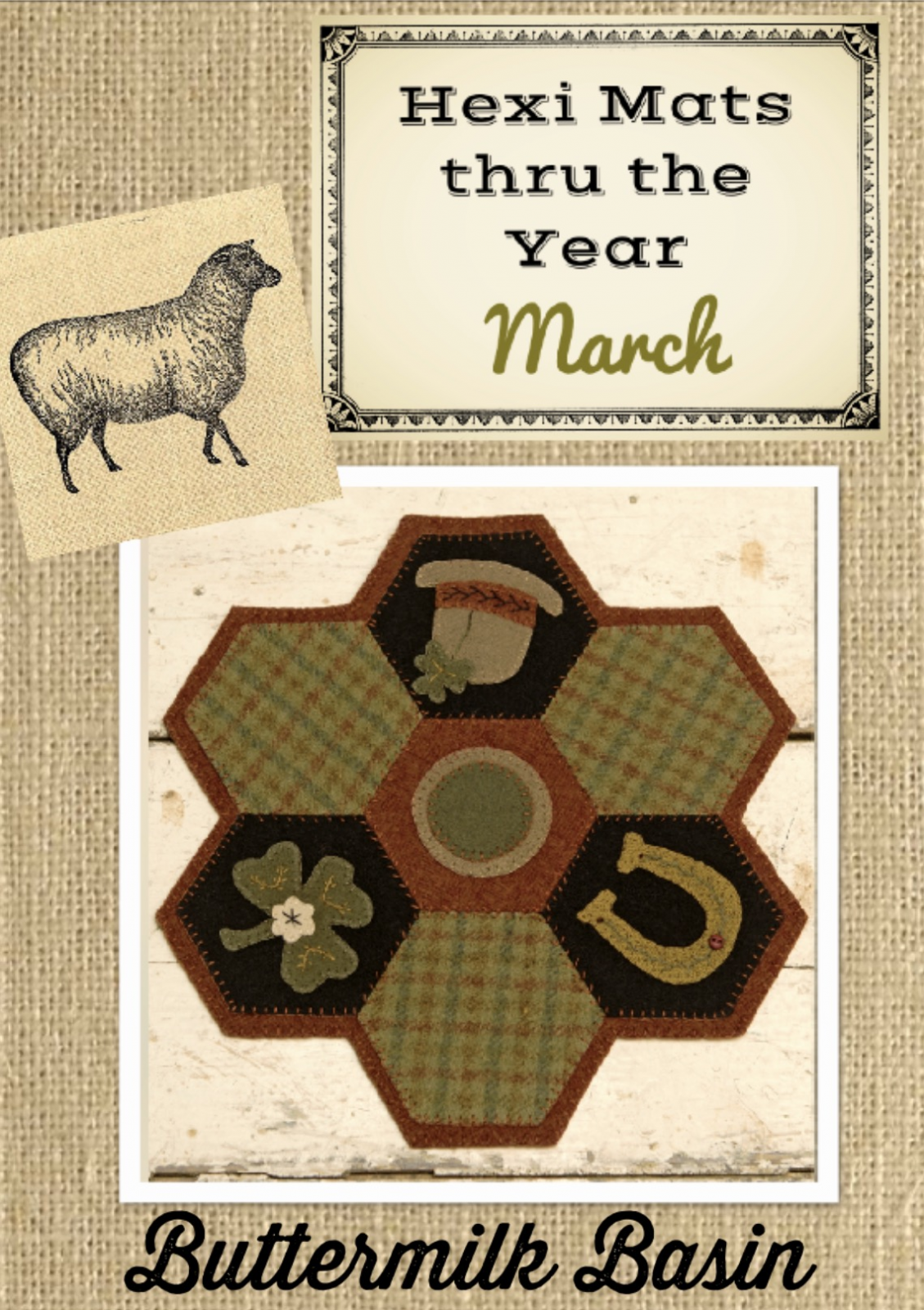 Hexi Mats thru the Year * March Pattern