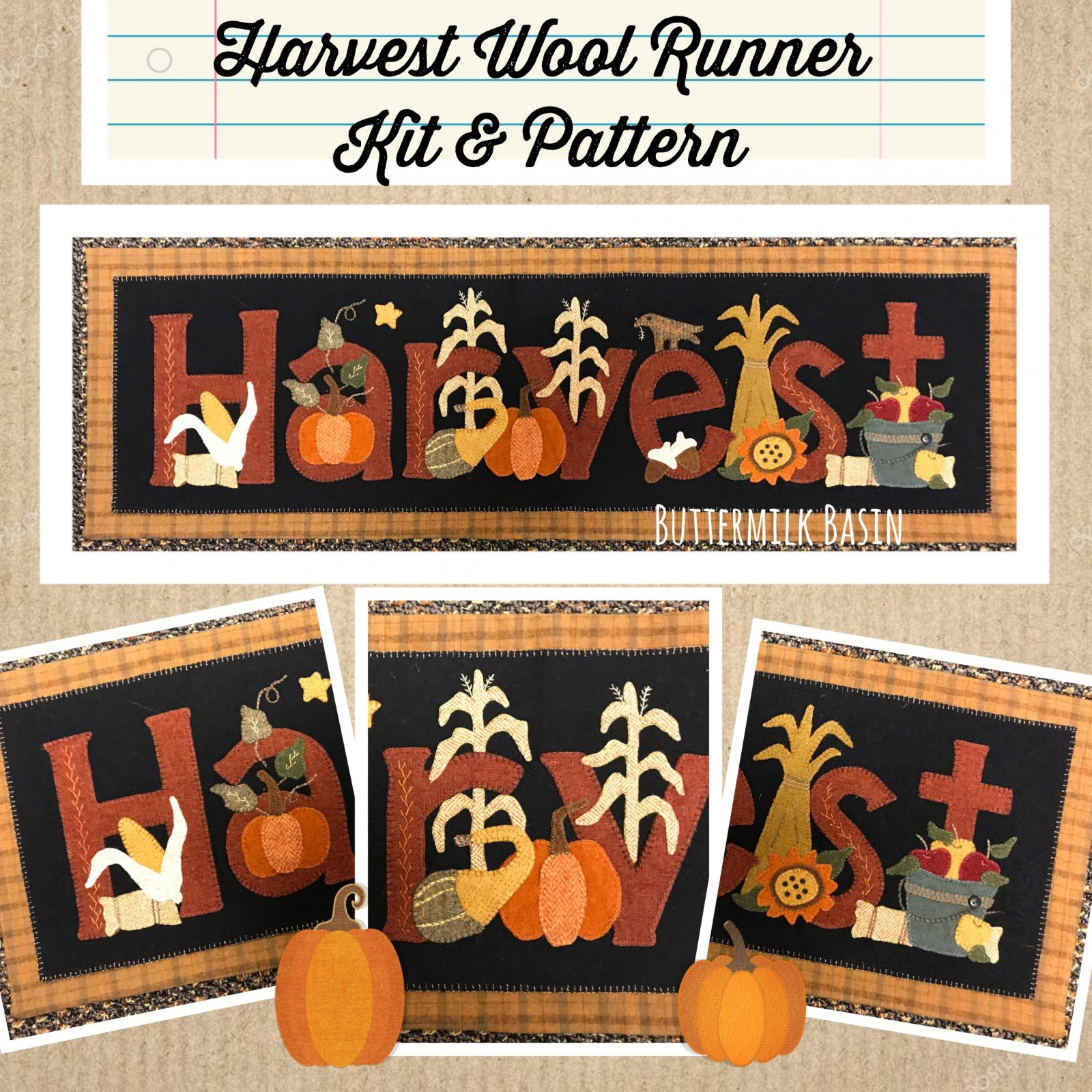 Harvest Wool Runner Kit & Pattern