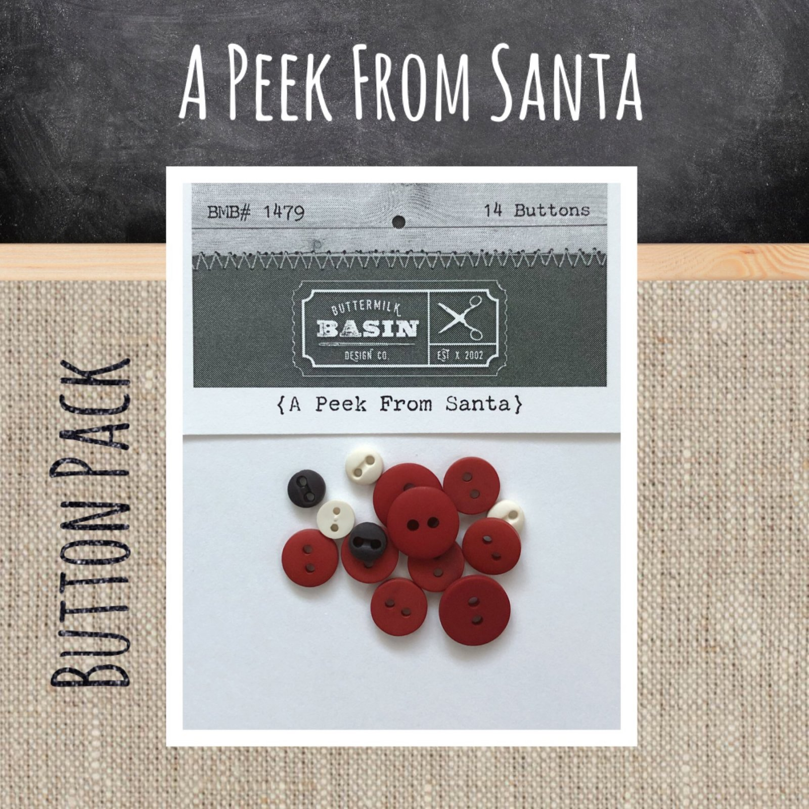 A Peek From Santa BUTTON Pack
