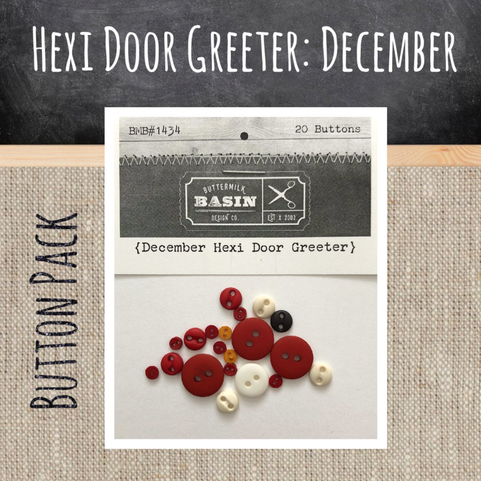 A Year of Hexi WORD Door Greeters * December BUTTON Pack