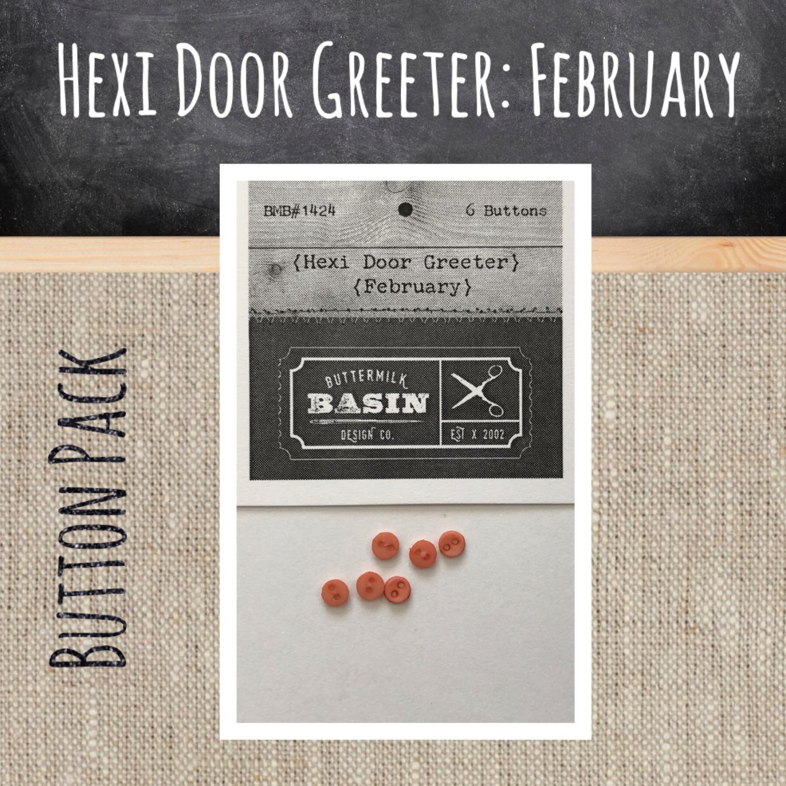 A Year of Hexi WORD Door Greeters * February BUTTON Pack