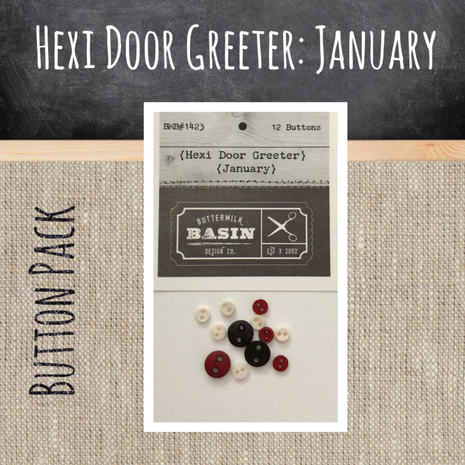 A Year of Hexi WORD Door Greeters * January BUTTON Pack