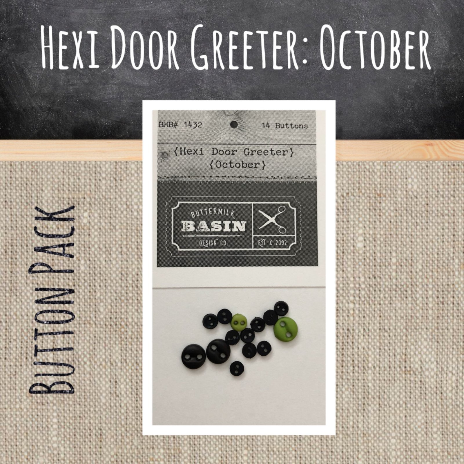 A Year of Hexi WORD Door Greeters * October BUTTON Pack