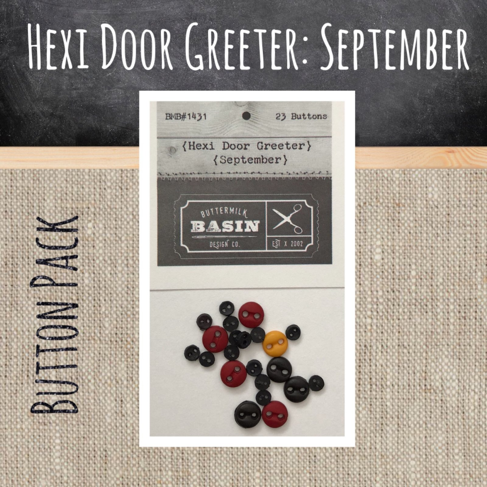 A Year of Hexi WORD Door Greeters * September BUTTON Pack