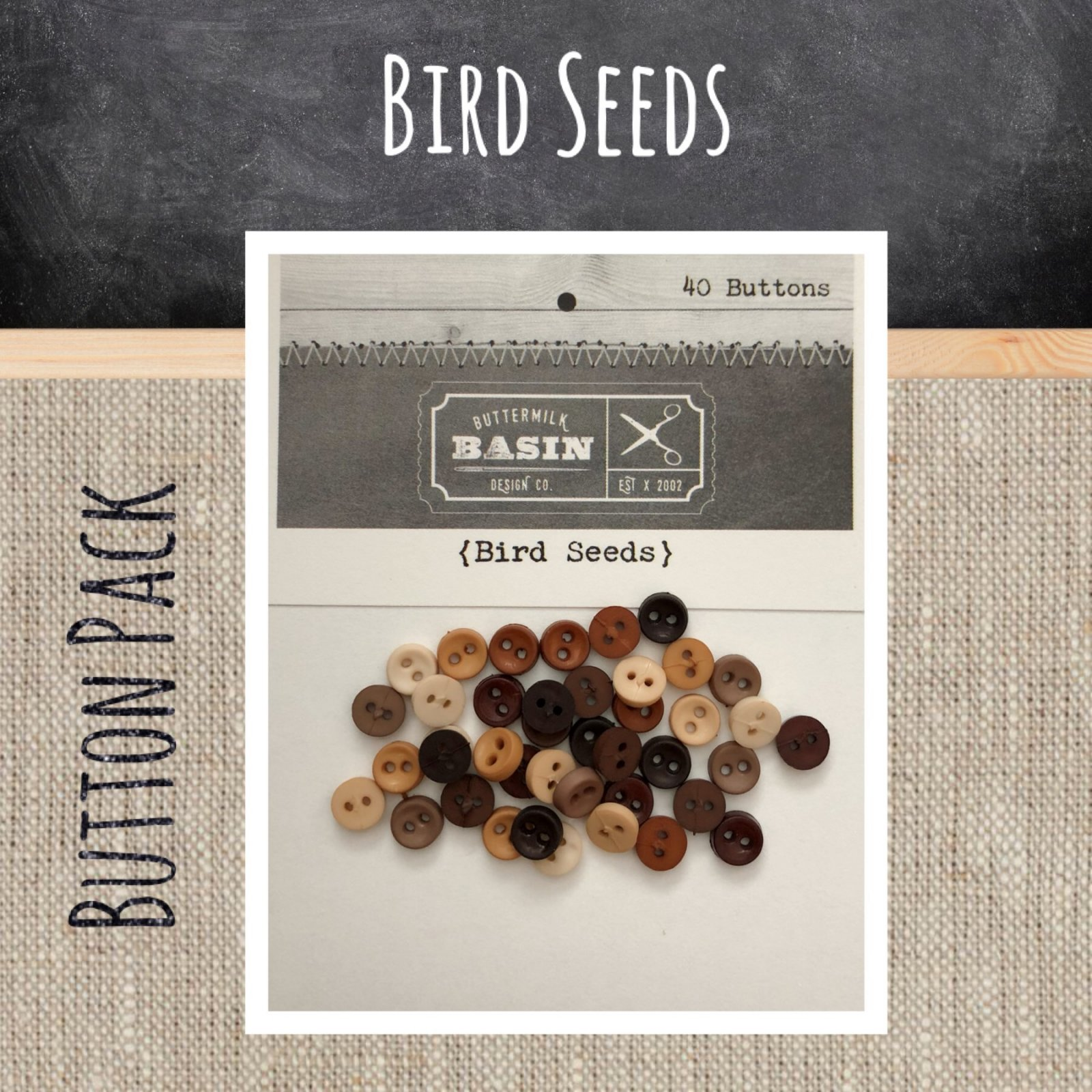 Bird Seeds BUTTON Pack