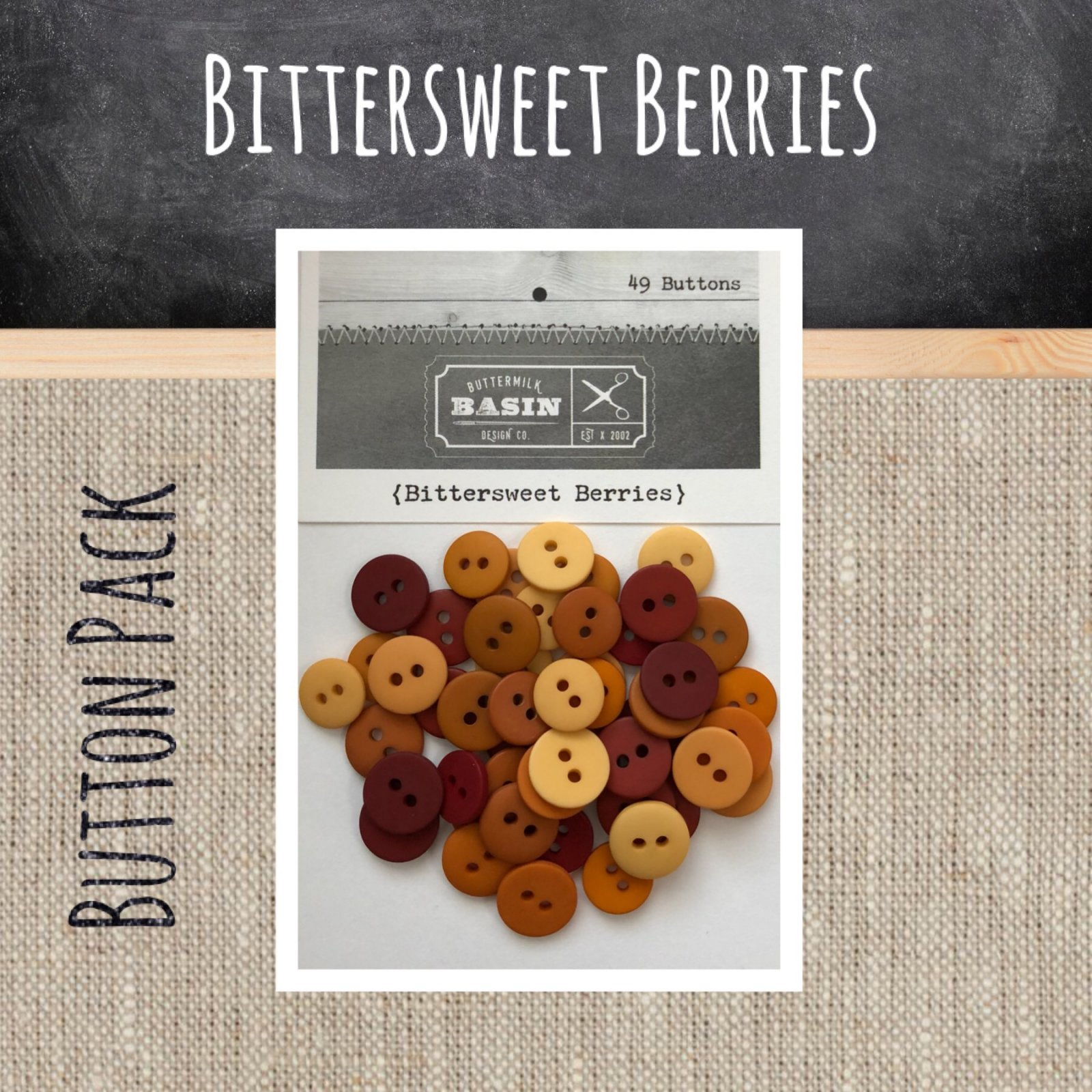 Bittersweet Berries BUTTON Pack