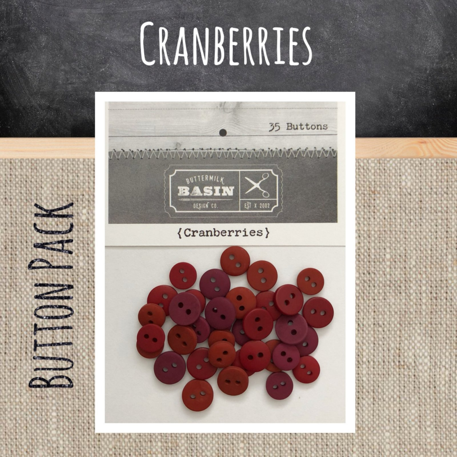 Cranberries BUTTON Pack