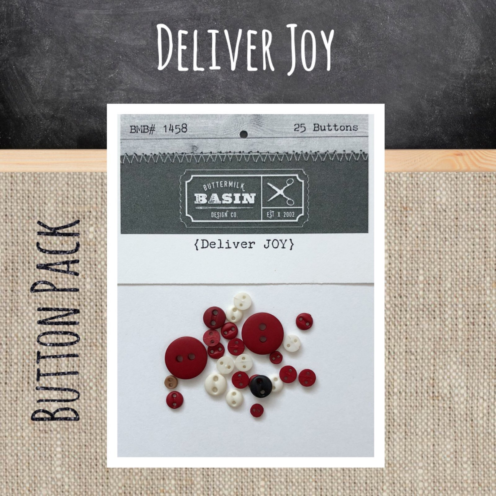 Deliver Joy BUTTON Pack
