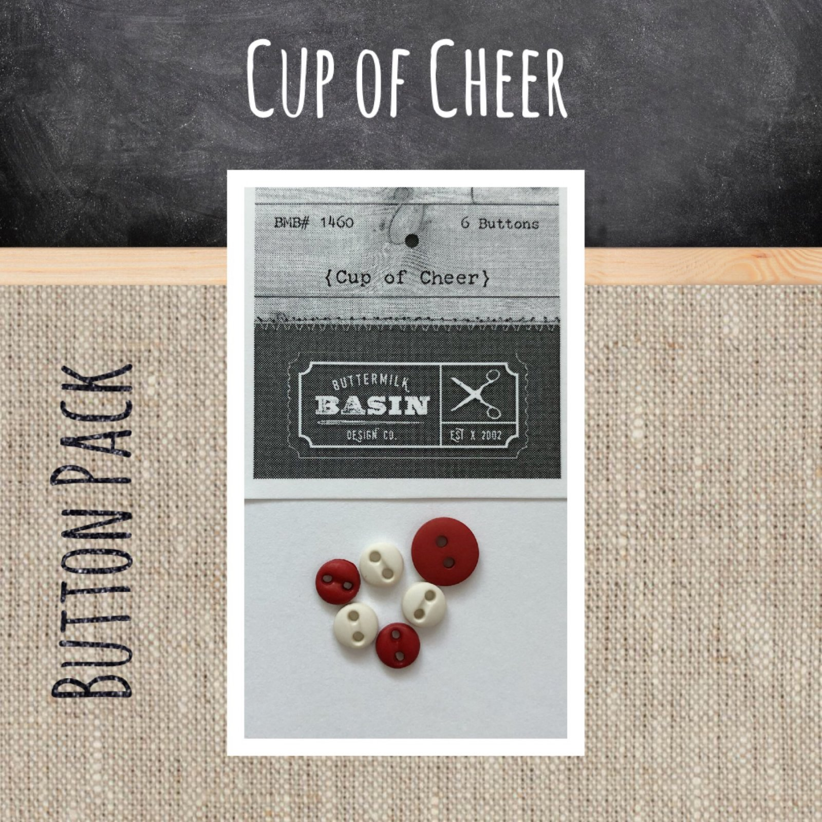 Cup of Cheer Quilt BUTTON Pack