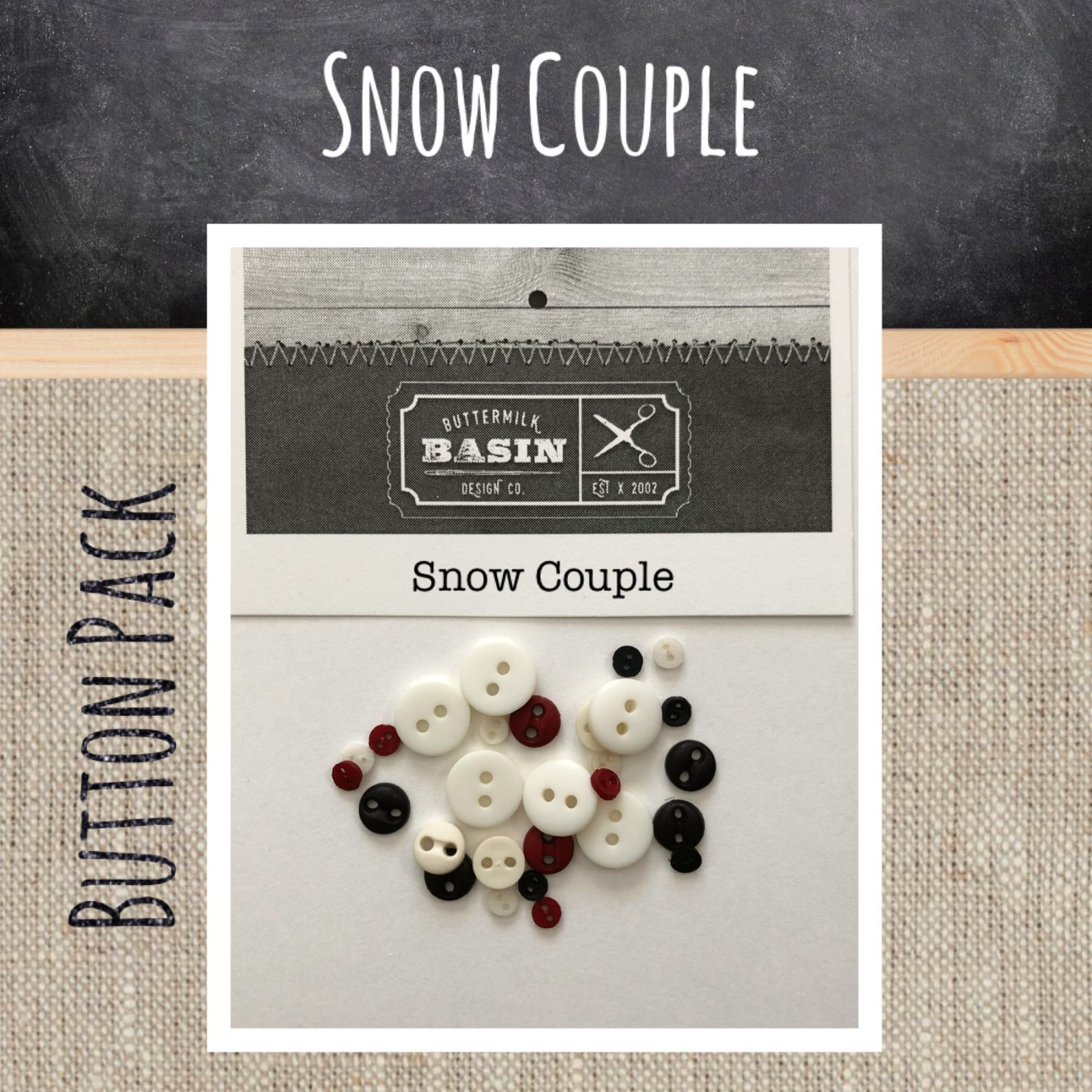 Snow Couple BUTTON Pack